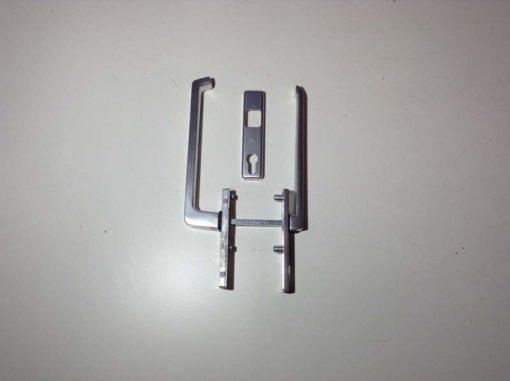 GU greep binnen/buiten met platte greep en cilindergat