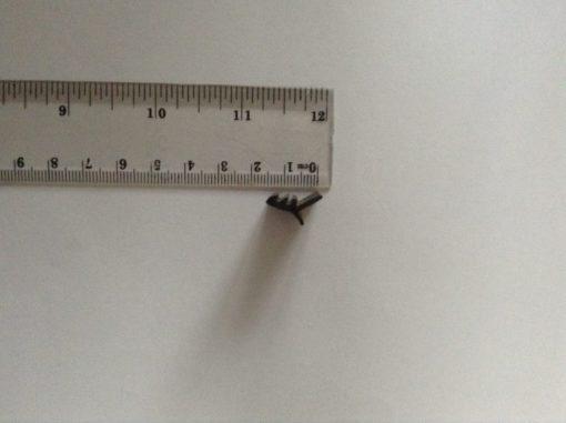 Schuifpui rubber P 1483 afdichtrubber/tochtstrip voor middenstijl met lengte 3000 millimeter