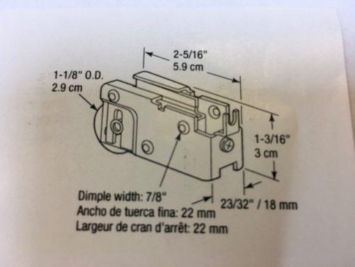 loopwiel maatvoering 2,9mm