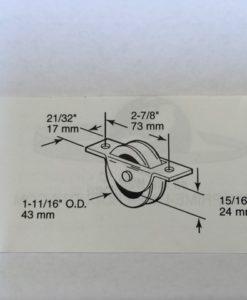 maatvoering 43 mm loopwiel