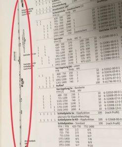 GU slotstuk doornmaat 15 FFH variabele krukhoogte.